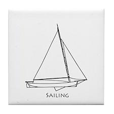 Sailing Bateau Tile Coaster