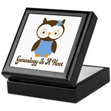 Genealogy Owl Is A Hoot Keepsake Box
