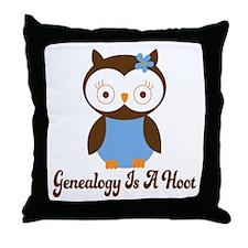 Genealogy Owl Is A Hoot Throw Pillow