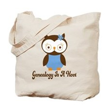 Genealogy Owl Is A Hoot Tote Bag