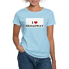 I HEART BROADWAY  Women's Pink T-Shirt