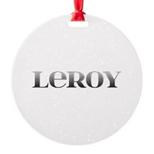 Leroy Carved Metal Ornament