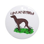 Greyhound Ornament (Round)