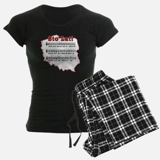 Sto Lat! Song Polish Map Pajamas