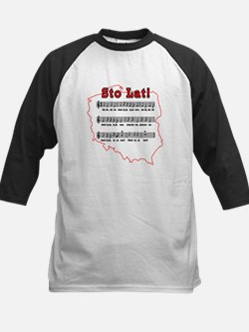 Sto Lat! Song Polish Map Kids Baseball Jersey