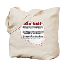Sto Lat! Song Polish Map Tote Bag