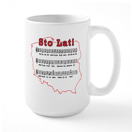 Sto Lat! Song Polish Map Large Mug