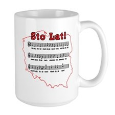 Sto Lat! Song Polish Map Mug