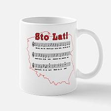 Sto Lat! Song Polish Map Mug
