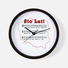 Sto Lat! Song Polish Map Wall Clock