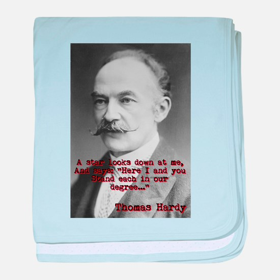 A Star Looks Down - Thomas Hardy baby blanket