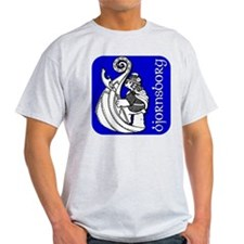 Viking Bear T-Shirt (Ash Grey)