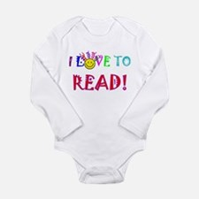 love to read drk.png Long Sleeve Infant Bodysuit