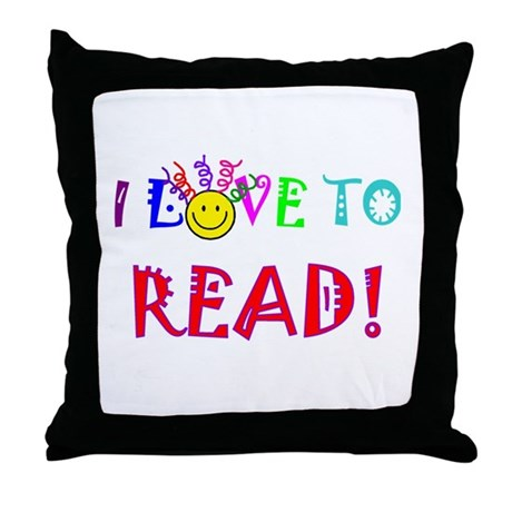 love to read drk.png Throw Pillow