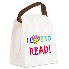 love to read drk.png Canvas Lunch Bag