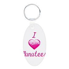 I Heart/Love Manatees Keychains