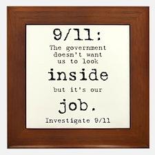 9/11: It's up to us Framed Tile