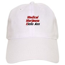 Medical Marijuana Kicks Ass Baseball Cap