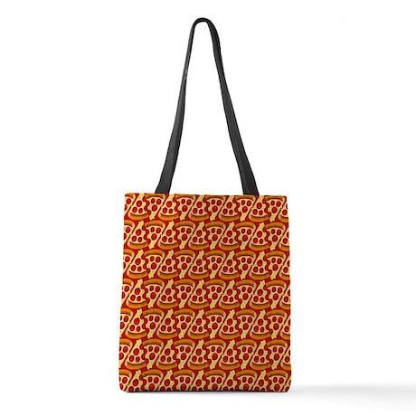 Pizza Emoji Pattern Polyester Tote Bag