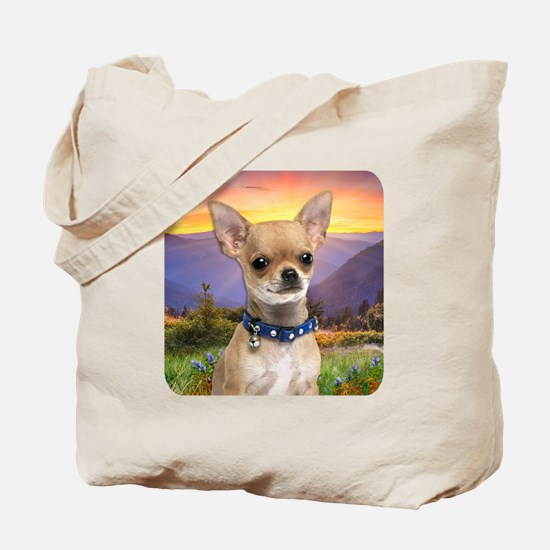 Chihuahua Meadow Tote Bag