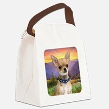 Chihuahua Meadow Canvas Lunch Bag