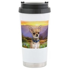 Chihuahua Meadow Travel Coffee Mug