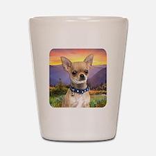 Chihuahua Meadow Shot Glass