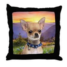 Chihuahua Meadow Throw Pillow