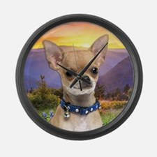 Chihuahua Meadow Large Wall Clock