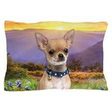 Chihuahua Meadow Pillow Case