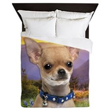 Chihuahua Meadow Queen Duvet