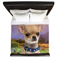 Chihuahua Meadow King Duvet