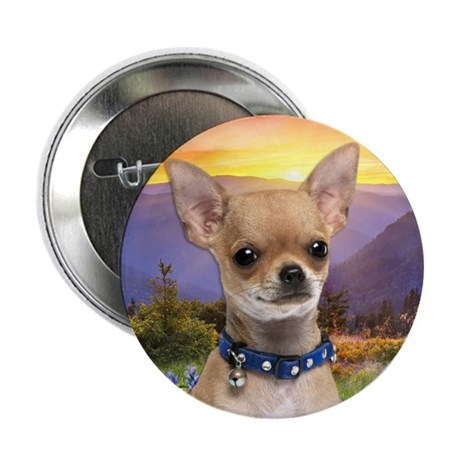 """Chihuahua Meadow 2.25"""" Button (100 pack)"""