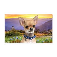 Chihuahua Meadow Car Magnet 20 x 12