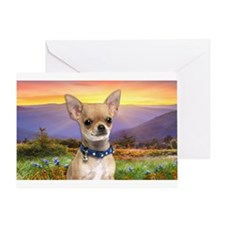 Chihuahua Meadow Greeting Card
