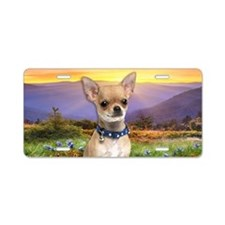 Chihuahua Meadow Aluminum License Plate