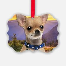 Chihuahua Meadow Ornament