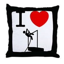 Pole Vault Throw Pillow