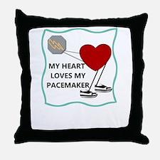 Heart Pacemaker Throw Pillow