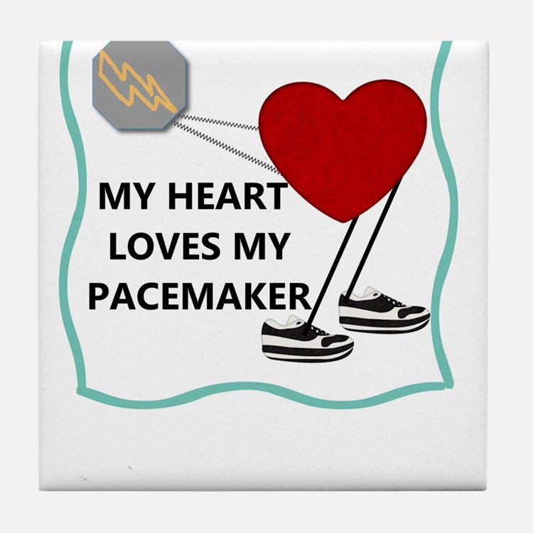 Heart Pacemaker Tile Coaster