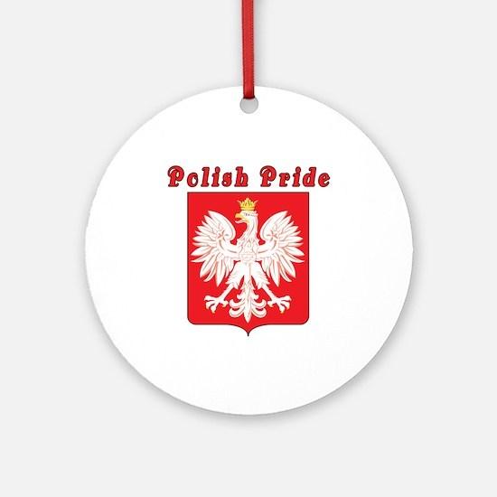 Polish Pride Eagle Ornament (Round)