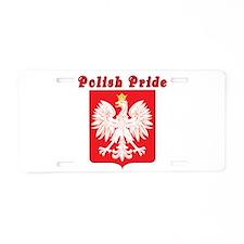 Polish Pride Eagle Aluminum License Plate