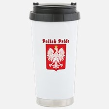 Polish Pride Eagle Stainless Steel Travel Mug