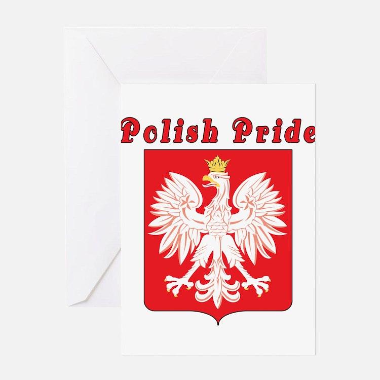 Polish Pride Eagle Greeting Card