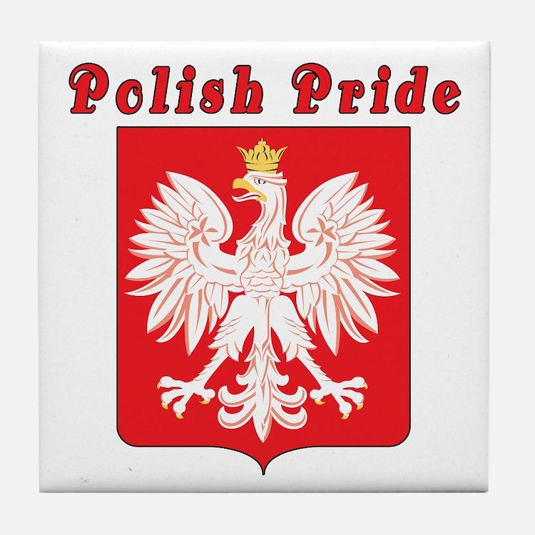 Polish Pride Eagle Tile Coaster