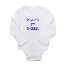 Unique Greek baby Long Sleeve Infant Bodysuit