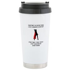 Cute Superheroine Travel Mug