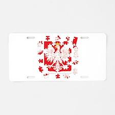 Polish Heritage Puzzle Design Aluminum License Pla