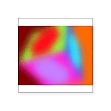 """Cube fuzz Square Sticker 3"""" x 3"""""""