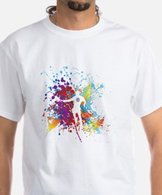 Color Splash Tennis Tshirt T-Shirt